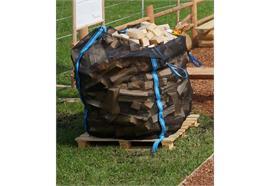 Brennholz Fichte, gesägt gespalten, Sack - Scheiterlänge 25 cm