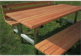 Gartensitzgruppe Tomebine, Sitzbänke mit Lehne